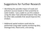 suggestions for further research