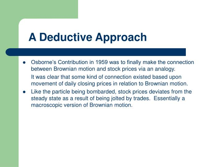 A Deductive Approach