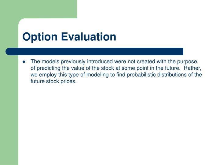 Option Evaluation