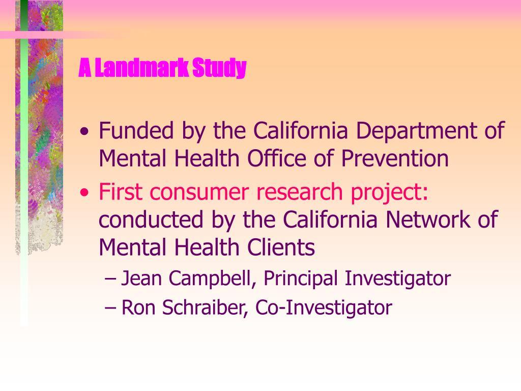 A Landmark Study