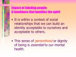 impact of labeling people a loneliness that humbles the spirit8