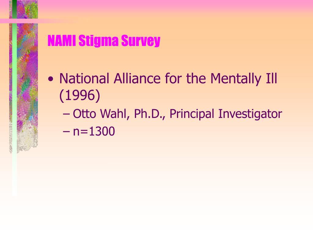 NAMI Stigma Survey