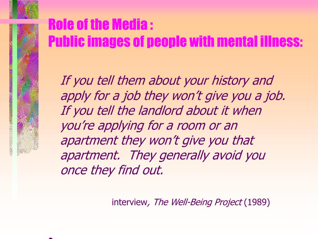 Role of the Media :