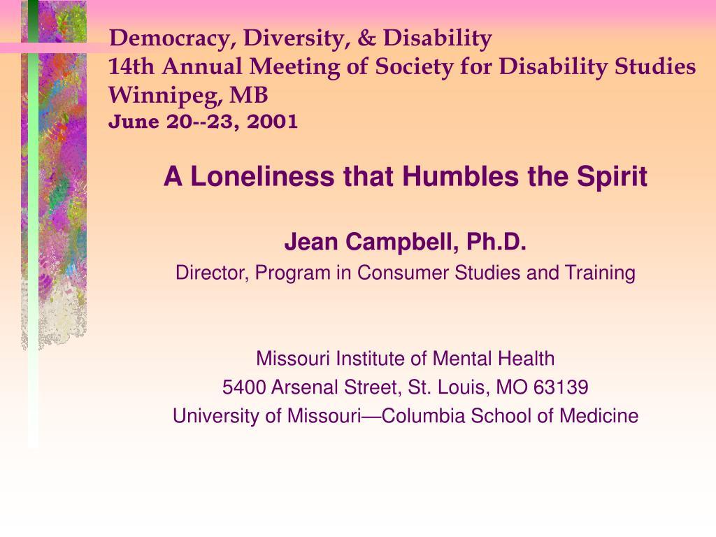 Democracy, Diversity, & Disability