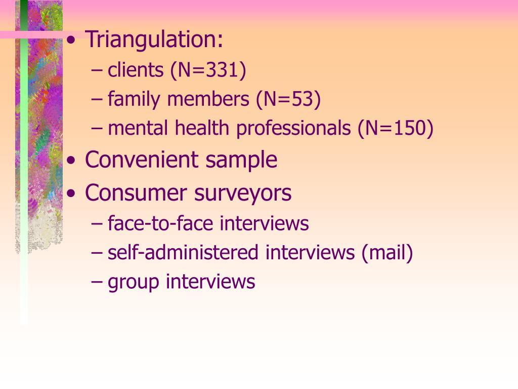 Triangulation: