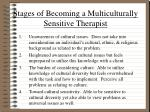 stages of becoming a multiculturally sensitive therapist