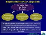 implementation plan components6