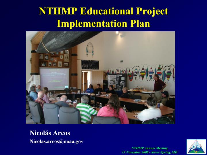 nthmp educational project implementation plan n.