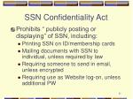 ssn confidentiality act