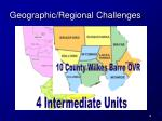 geographic regional challenges