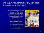 the idea partnership how can your state become involved