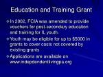 education and training grant