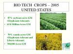 bio tech crops 2005 united states1