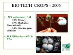 bio tech crops 20051