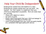 help your child be independent