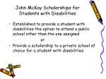 john mckay scholarships for students with disabilities