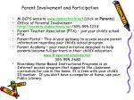 parent involvement and participation