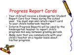 progress report cards