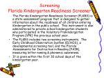 screening florida kindergarten readiness screener