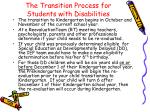 the transition process for students with disabilities