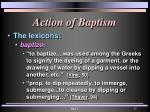 action of baptism