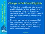 change to pell grant eligibility