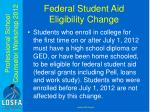 federal student aid eligibility change
