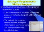 employer requirements written program1