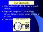 eye hazards