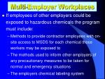 multi employer workplaces