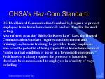 ohsa s haz com standard