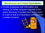 warehouse and retail operations1
