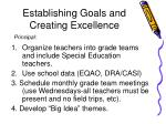establishing goals and creating excellence1