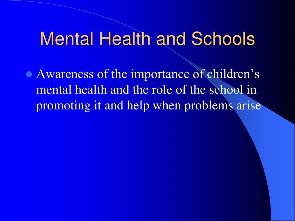 Mental Health and Schools