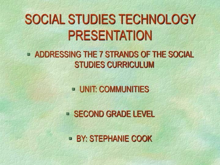 social studies technology presentation n.