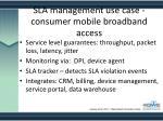 sla management use case consumer mobile broadband access