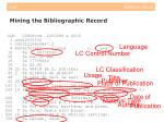 mining the bibliographic record