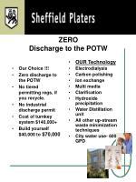 zero discharge to the potw