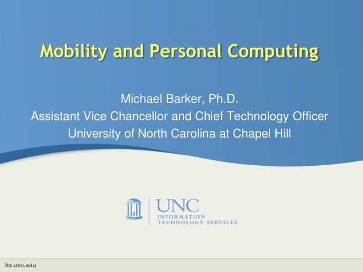 mobility and personal computing n.