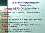 courses on water resources engineering