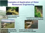 examples of application of water resources engineering