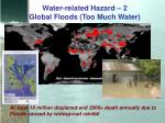 water related hazard 2 global floods too much water
