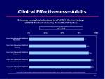 clinical effectiveness adults