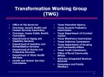 transformation working group twg