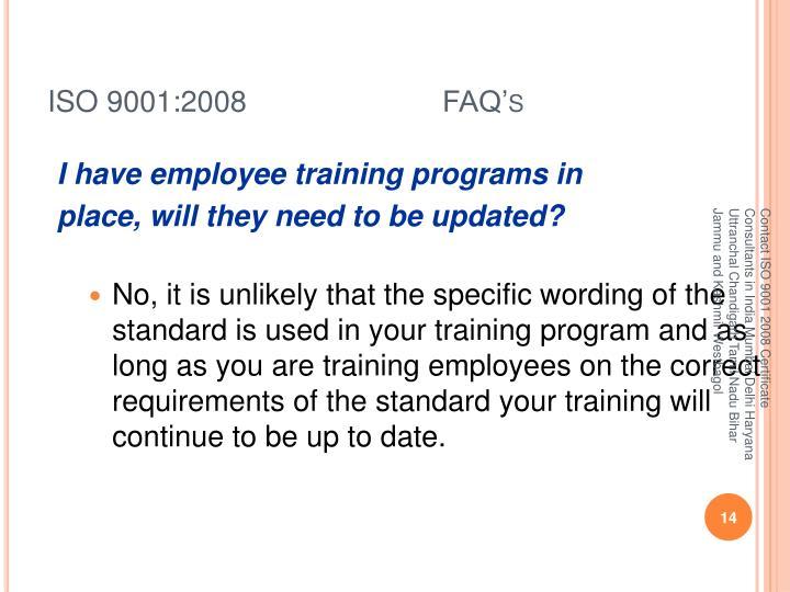 ISO 9001:2008  FAQ's