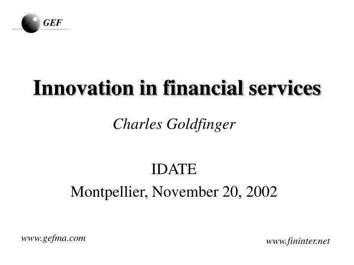 innovation in financial services n.