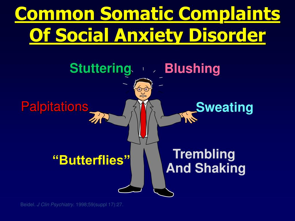 Common Somatic Complaints Of Social Anxiety Disorder
