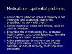 medications potential problems