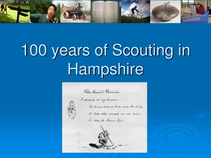 100 years of scouting in hampshire n.