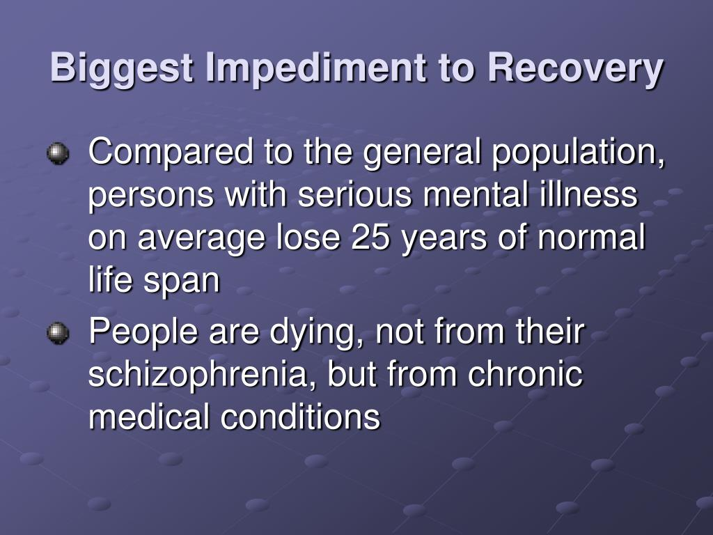 Biggest Impediment to Recovery